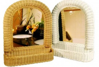 1600x1205px Two Wicker Framed Mirrors With Holders Picture in Furniture Idea