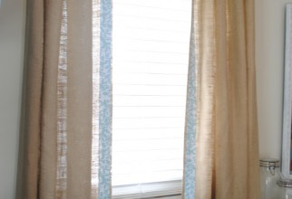 536x800px Burlap Curtains Picture in Curtain