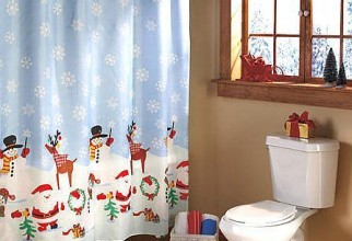 448x533px Christmas Shower Curtain Set Picture in Curtain