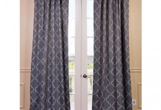 736x736px Grey Blackout Curtains Picture in Curtain