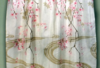 933x1024px Cherry Blossom Shower Curtain Picture in Curtain
