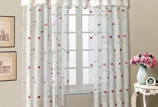 1000x1274px Embroidered Sheer Curtains Picture in Curtain