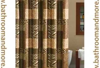 1000x1000px Leopard Shower Curtain Picture in Curtain