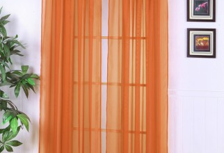 550x671px Orange Sheer Curtains Picture in Curtain