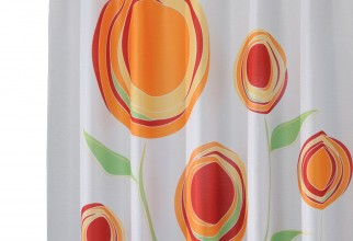 1500x1500px Orange Shower Curtain Picture in Curtain