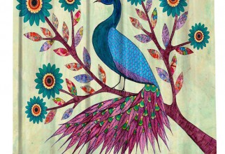 594x640px Peacock Shower Curtain Picture in Curtain