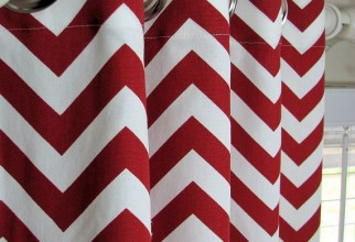 570x852px Red Chevron Curtains Picture in Curtain