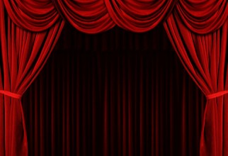 978x911px Red Velvet Curtains Picture in Curtain