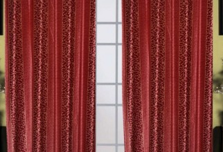 768x987px Maroon Curtains Picture in Curtain