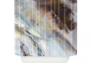 736x736px Art Shower Curtain Picture in Curtain