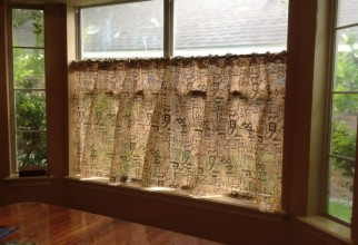 736x549px Burlap Kitchen Curtains Picture in Curtain