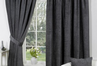 1000x1000px Dark Grey Curtains Picture in Curtain