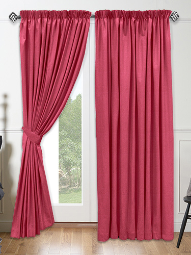 Magenta Curtains in Curtain