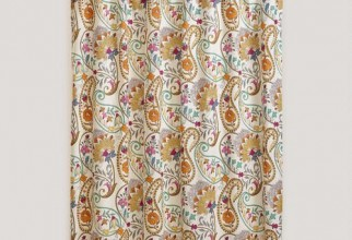 500x500px Paisley Shower Curtains Picture in Curtain