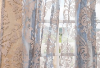 384x506px Patterned Sheer Curtains Picture in Curtain