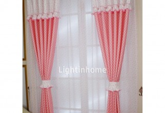962x962px Pink Polka Dot Curtains Picture in Curtain