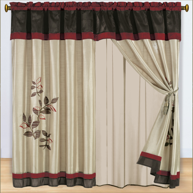 Priscilla Curtains With Attached Valance in Curtain