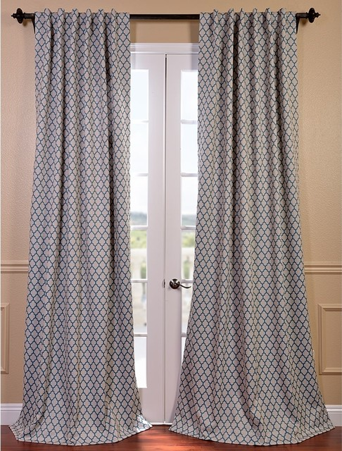Teal Blackout Curtains in Curtain