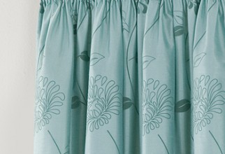 350x450px Teal Curtain Picture in Curtain