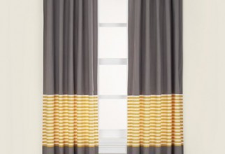 550x550px Yellow Gray Curtains Picture in Curtain