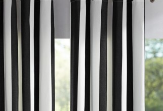 710x639px Black And White Striped Curtains For Sale Picture in Curtain