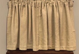 612x492px Burlap Cafe Curtains Picture in Curtain