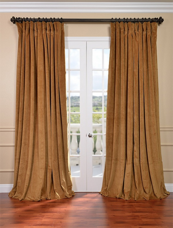 Gold Velvet Curtains in Curtain