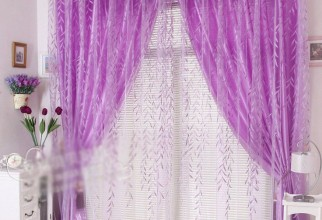 736x736px Light Purple Curtains Picture in Curtain