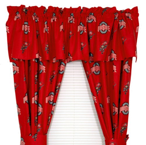 Ohio State Curtains in Curtain