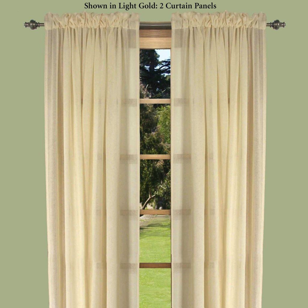 Semi Sheer Curtain Panels in Curtain