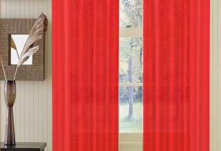 703x1174px Sheer Red Curtains Picture in Curtain