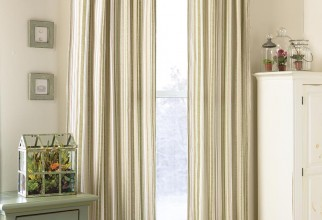 800x880px Ticking Curtains Picture in Curtain