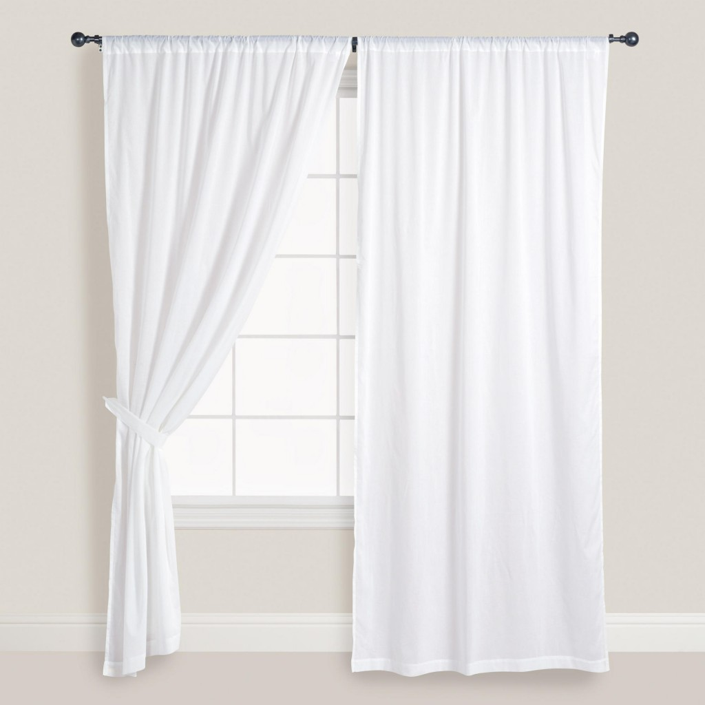 White Window Curtains in Curtain
