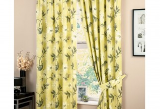 1500x1500px Yellow Floral Curtains Picture in Curtain