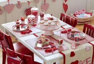 600x673px Table Decorations For Valentines Day Picture in Table